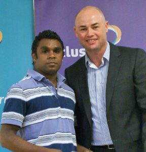 Travis Hogan with Inclusive Sport SA Chairperson Darren Steele