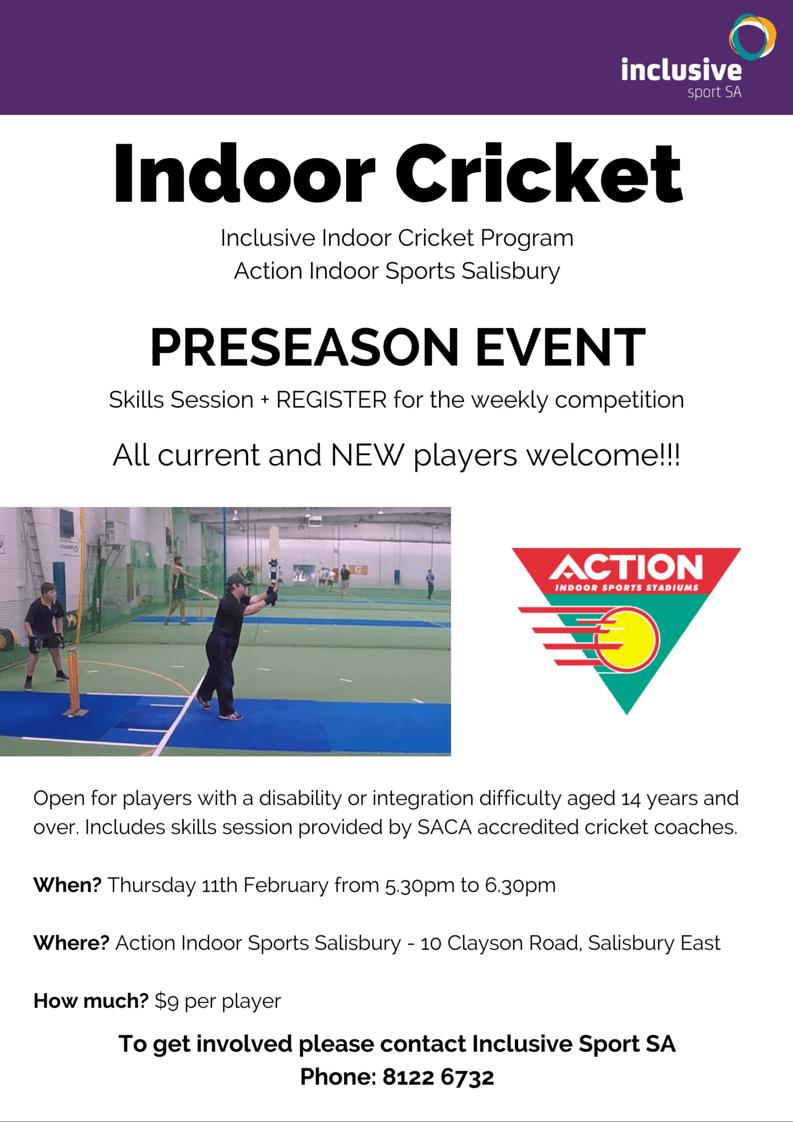 Indoor Cricket Preseason