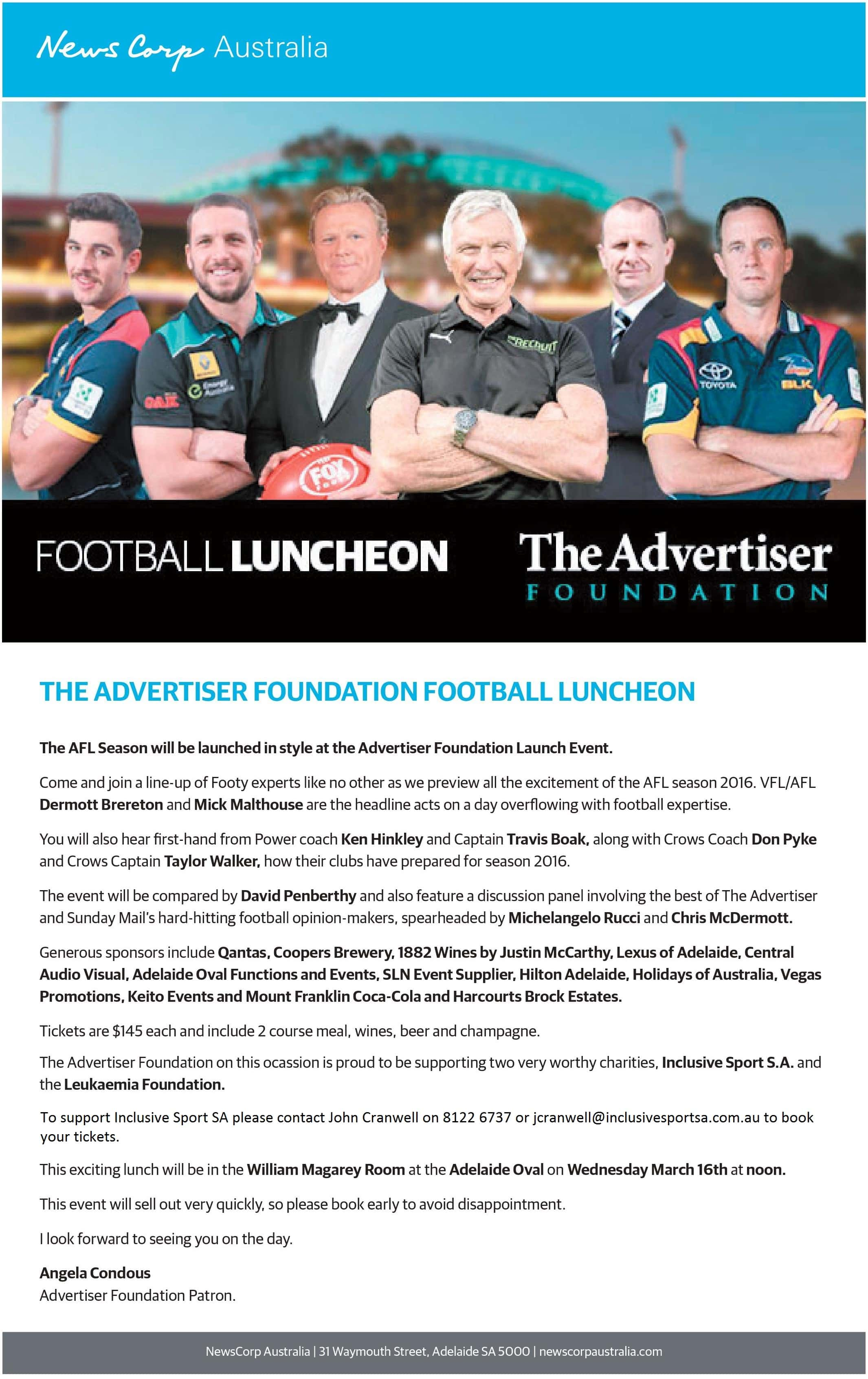 AFL Football Launch Luncheon NEW
